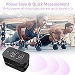 Jumper Oxymètre de pouls avec grand écran LED SpO2 pour mesurer la saturation du sang et la fréquence cardiaque (Vert) #2