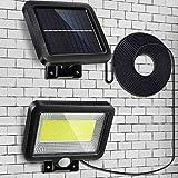 Luce Solare Esterno, Parkarma LED Lampada Solare Esterno 150 COB LED 3 Modalità Impermeabile IP65 Luci Esterno Energia Solare per Percorso Garage Cortile Porta Recinto Giardino(Diviso)