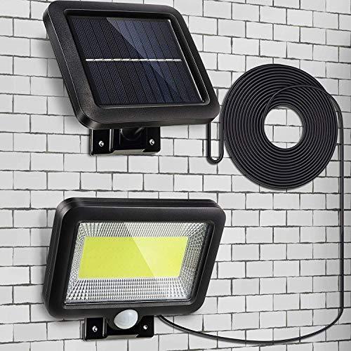 Parkarma Luce Solare Esterno LED Lampada Solare Esterno 150 COB LED 3 Modalità Impermeabile IP65 Luci Esterno Energia Solare per Percorso Garage Cortile Porta Recinto Giardino(Diviso)