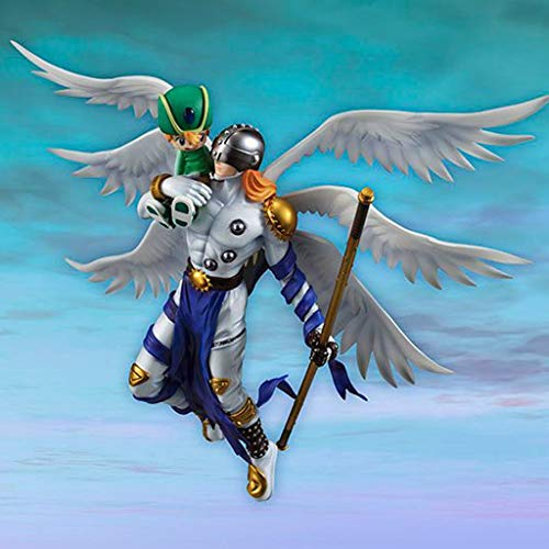 GJLMR Digimon Adventure Figure Angemon(Maturation Period) & Takaishi Takeru XCJSWZZ