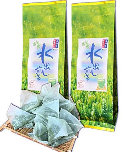 静岡抹茶入り 水出し煎茶ティーバッグ 1リットル用 5g×25個袋入(125g) 緑茶 冷茶 水出しお湯出し両用タイプ 掛川茶 お茶 パック (2袋)