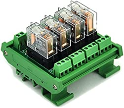 ELECTRONICS-SALON montaje en carril DIN 4 SPDT 16 A Relé de potencia del módulo de interfaz, OMRON G2R - relé 1-e DC24V