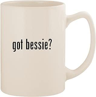 got bessie? - White 14oz Ceramic Statesman Coffee Mug Cup