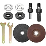 YEYIT 10Pcs Accessories for Angle Grinder <span class='highlight'>Hand</span> Drill Conversion Connecting Rod Grinder Angle Grinder Spanner Flange Nut Cutting Discs Metal Grinding Discs Grinder Tightening Devices <span class='highlight'>Power</span> <span class='highlight'>Tools</span>