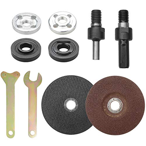 YEYIT 10Pcs Accessories for Angle Grinder Hand Drill Conversion Connecting Rod Grinder Angle Grinder Spanner Flange Nut Cutting Discs Metal Grinding Discs Grinder Tightening Devices Power Tools