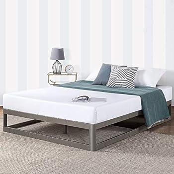 Mellow Metal Platform Bed Frame with Heavy Duty Steel Slat Foundation