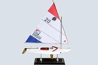 LK Wooden Sunfish Model Sailboat Decoration 16