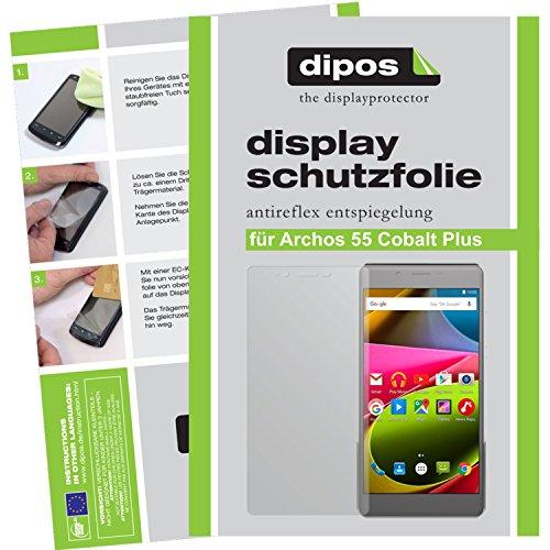 dipos I 2X Schutzfolie matt kompatibel mit Archos 55 Cobalt Plus Folie Bildschirmschutzfolie