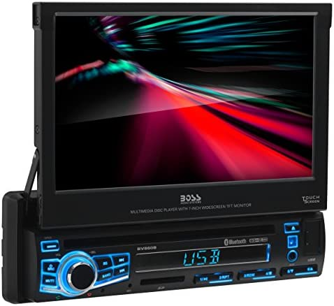 BOSS Audio Systems Elite BV860B Car DVD Player Single Din Bluetooth Audio and Calling Built product image