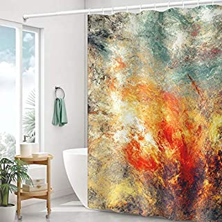 Sponsored Ad - Kackool 72x72 inches Abstract Marble Shower Curtains Colorful Marble Texture Bathroom Curtains for Shower W...