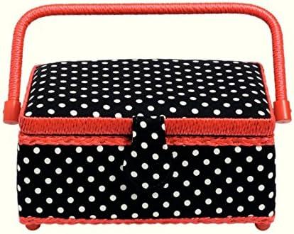Prym Polka Dot Small Craft wholesale Storage Red Box Black White Bargain
