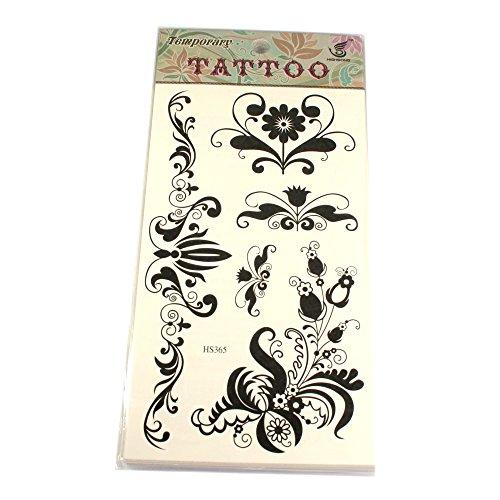 Tattoos mit Blumenranken schwarz