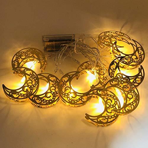 Ramadan Eid String Light, Eid Mubarak Decorative String Lights, Moon Star LED Ramadan Lamp Lantern, Ramadan Kareem Decoration Accessories for Festival Party Bedroom Birthday (D)
