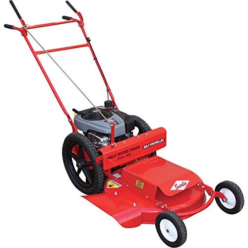 Sarlo Self-Propelled High Wheel Push Lawn Mower - 190cc...