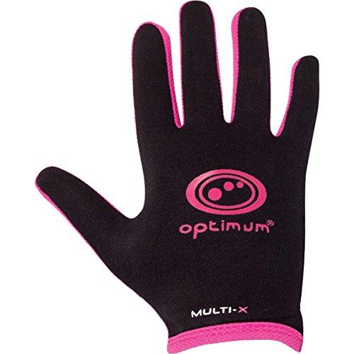 OPTIMUM Optimal Unisexe Multi X Complet Doigt Gants Noir Noir/Rose Petit