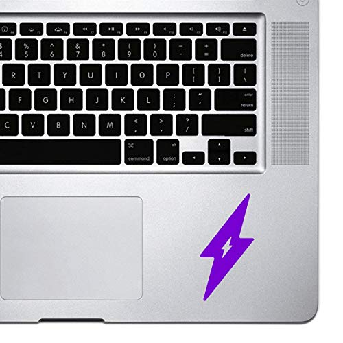DKISEE Laptop Sticker Lightning Bolt Sticker voor MacBook Pro, Chromebook en Laptops Vinyl Stickers 5 inch Paars