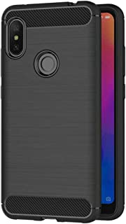 Case for Xiaomi Redmi Note 6 Pro (6.26 inch) Soft Silicon Luxury Brushed with Texture Carbon Fiber Design Protection Cover...