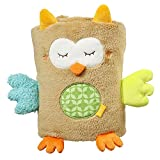 Fehn 071610 Kuscheldecke Eule / Kuschelige Schmusedecke für Babys und Kleinkinder ab 0+ Monaten - zum Kuscheln, als Krabbelunterlage oder Schnuffeltuch, Maße: 100x75cm