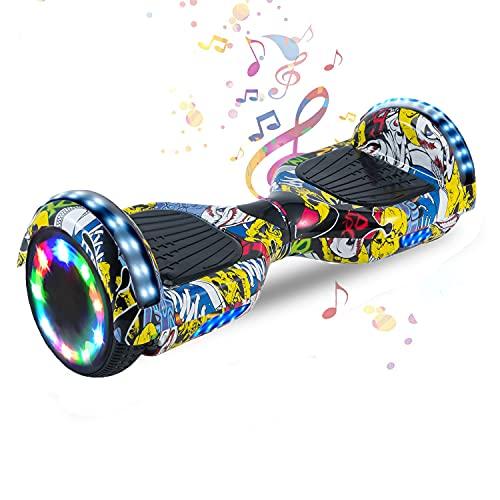 HappyBoard 6,5 Pollici Hoverboard Monopattini Elettrici Autobilanciati Scooter Elettrico Autobilanciante, Ruote da Skateboard con Luce a LED, Motore 700 W...