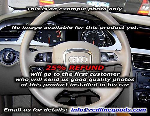 RedlineGoods Cubierta del Volante 4 Compatible con Audi Q7 2007-15 Cuero Canela Costura Negra