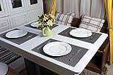 Homcomoda Platzsets und Untersetzer Abwaschbar Tischsets 6er Set PVC Vinyl Rutschfest Hitzebeständig platzdeckchen 30×45 cm - 4