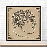 Suuyar ルーツフレノロジーポスターアルバム音楽ヒップホップラップジャズカバーポスターとプリントウォールアートプリントキャンバスにリビングルームホーム-24X24インチX1フレームレス