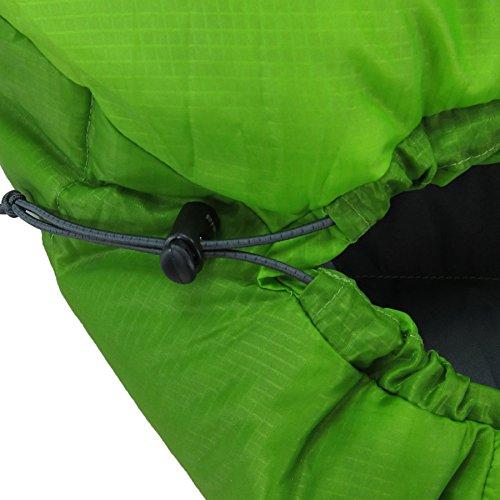 イスカ(ISUKA)寝袋ウルトラライトグリーン[最低使用温度10度]