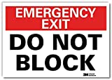 'Emergency Exit - Do Not Block' Label by SmartSign | 10' x 14' 3M Reflective Laminated Vinyl