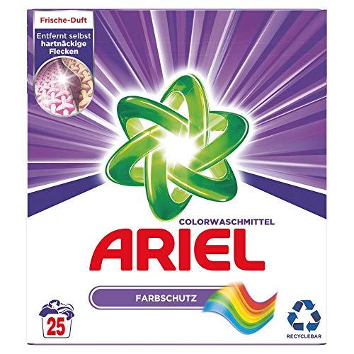 Ariel Waschmittel Pulver, Waschpulver, Color Waschmittel, Farbschutz, 25 Waschladungen (1.625 kg)