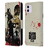 Head Case Designs Officially Licensed by AMC The Walking Dead Daryl Full Silhouettes Leather Book Wallet Case Cover Compatible with Apple iPhone 11