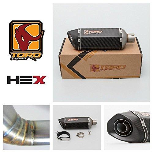 Toro T2 Hex-x Kit d'échappement mat, carbone - Kawasaki ZX-6R 2003-2004
