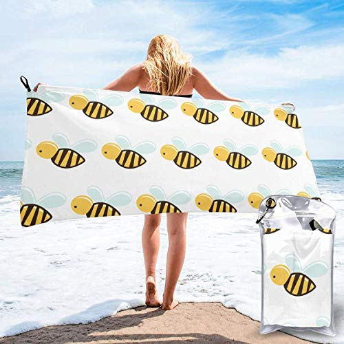 shenguang Cartoon Bee Microfiber Quick Dry Bath Towels Travel Sports Gym Beach Towels Camping Swimming Compact Towel