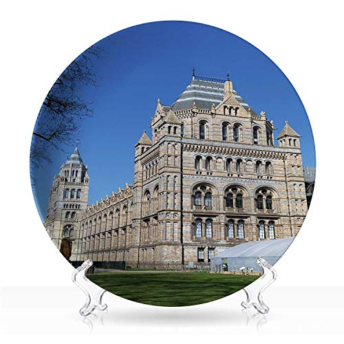 London Natural History Museum,Cute Funny Animals plate for Home,6 inch 8