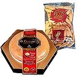 Queso Torta Del Casar Pastoralia - Peso 600 gramos - Queso de Oveja elaborado con leche cruda de oveja - D.O.P. Pastovelia (1 Torta del Casar con Picos)