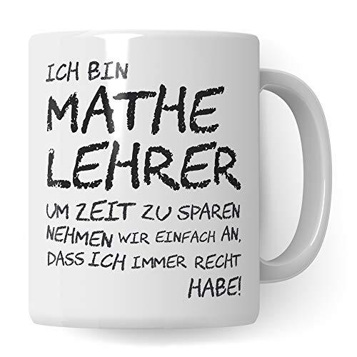 Pagma Druck Mathelehrer Tasse, Geschenk für Mathe Lehrer, Kaffeetasse Geschenkidee Lehrer Tasse Mathematik lustig, Kaffeebecher Lehramt Schule Mathematiklehrer Abschied Abschluss Witz