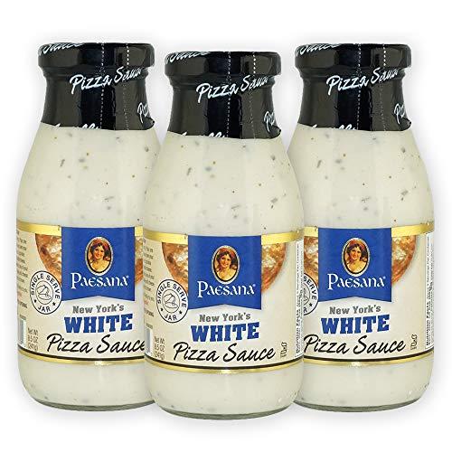 Paesana New York's White Pizza Sauce, Gluten Free, Kosher Certified, 8.5 OZ - Made in the USA (3 Pack)