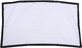 Projectorscherm, 100 Inch 16:9 HD-gordijn met Opbergtas Hoogwaardig Canvas Anti-kreukprojectorscherm voor Thuisbioscoop Li...
