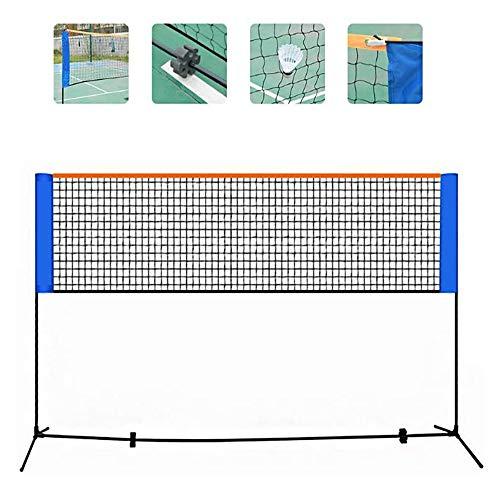 oofay tragbares Badminton-Netz, faltbar, mit Aufbewahrungstasche, 3 m / 4 m / 5 m / 6 m, tragbares Netz, geeignet für Outdoor, Familie, Strand und andere Heimunterhaltung, ?86-150?*610cm