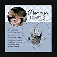 Baby Child Keepsake Handprint Frame with Poetry - Mommy, Daddy, Grandma or Grandpa (Mommy) by The Grandparent Gift Co.