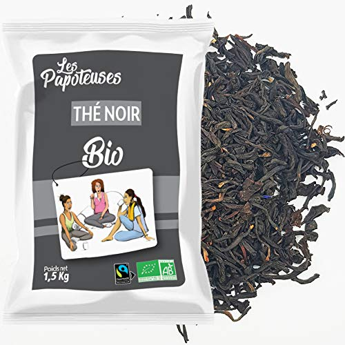 LES PAPOTEUSES   Té negro orgánico en hojas enteras   1500g   Té negro chino a granel   Orgánico certificado y comercio justo