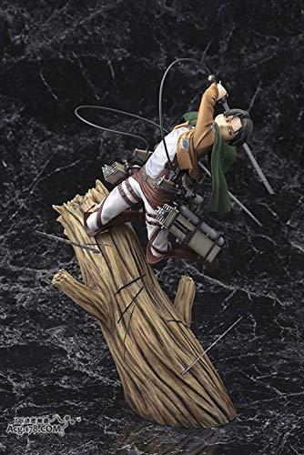 YXCC Attack on Titan Figure Ataque a la Figura de Titán Estatua de Bestia giratoria Figura de Ackerman Levi