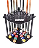 Iszy Billiards F41201-black Cue Rack Only-8 Pool Billiard Stick and Ball Floor St