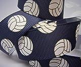 Grosgrain Ribbon Navy Volleyball Print - 7/8'W - 10 Yards - DIY Team Hair Bows!