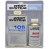 West System - Kit reparardor para barcos (resina Epoxy 105 y endurecedor 205)