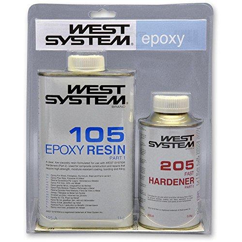 West System A-Pack Epoxid mit Schnell-Härter 105-205A - 1,2kg