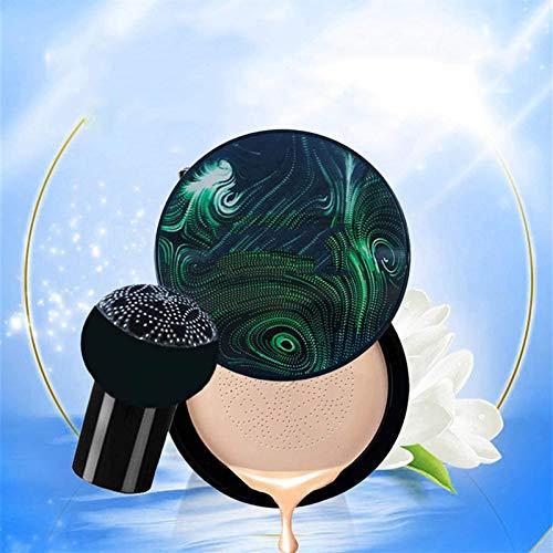 Mushroom Head Air Cushion CC Cream Natural, Base de Colchón de Aire Impecable a Prueba de Agua, Corrector Hidratante Base de Maquillaje Base Base Líquida, Corrector hidratante (Marfil)