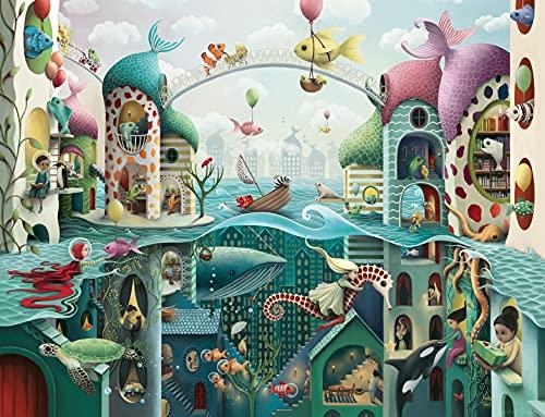 Ravensburger Puzzle 2000 Pezzi, Se i Pesci Potessero Camminare, Animali, Collezione Fantasy, Jigsaw Puzzle per Adulti, Puzzles Ravensburger - Stampa di Alta Qualità, Dimensione Puzzle: 98x75cm
