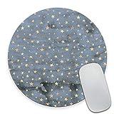 Smooffly Star Mouse Pad Stars Mousepad Sky Mouse Pad Star Mousepads Round Mouse pad Square Mouse Pad Blue Mousepad Star Mouse Pads Cute Mouse Pad Stars