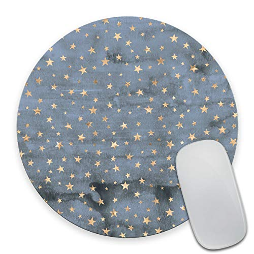 Smooffly Star Mouse Pad Stars Mousepad Sky Mouse Pad Star Mousepads Round Mouse pad Square Mouse Pad Blue Mousepad Star Mouse Pads Cute Mouse Pad Stars