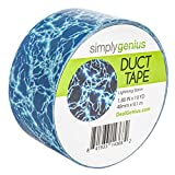 Simply Genius (Single Roll) Patterned Duct Tape Roll Craft Supplies for Kids Adults Colored Duct Tape Colors, Lightning Storm